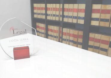 Premio al Mejor Abogado de Familia de Valencia 2019 Lidón Serra Abogado