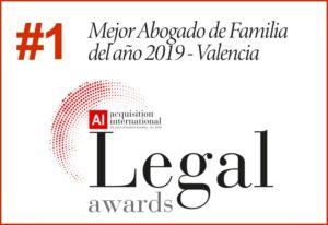 Premio mejor abogado de familia año 2019